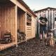 Im Hylly Brennholzlager lässt sich frisch gehacktes Brennholz trocknen und optimal lagern.