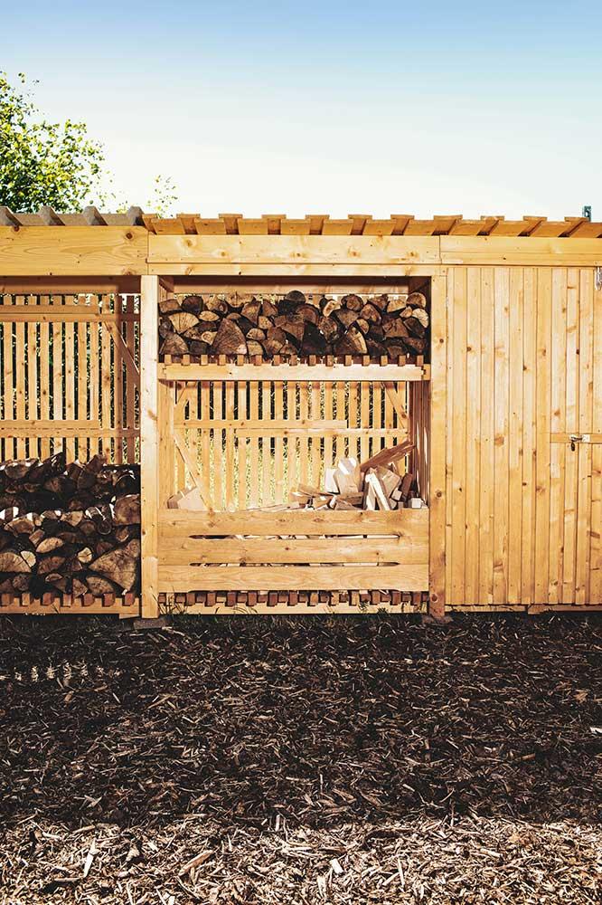 Das Schüttgutmodul aus der Hylly Brennholzdepot Serie