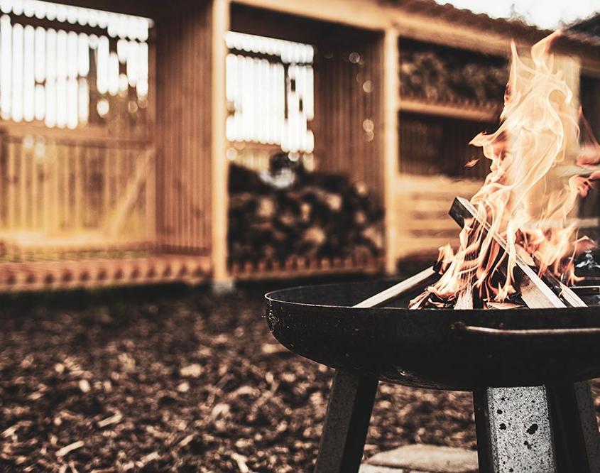Das Hylly Kaminholzdepot ist das ideale Lager für Brennholz