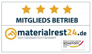 Wir sind Mitglied bei Materialrest24: